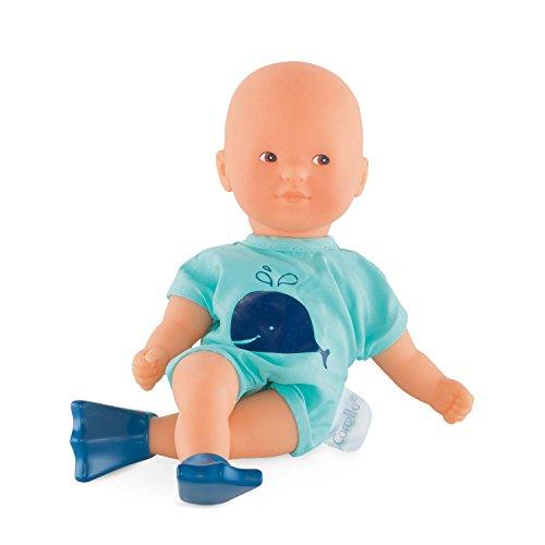 Corolle 9000120070 Mon Petit Poupon Mini Badepuppe, blau, 20 cm