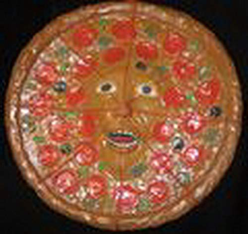 erdbeerparty - Halloween Dekoration, Deko Pizza Gesicht aus Essen, Food Face, ideal für Jede Halloween Party / Feier, Rot