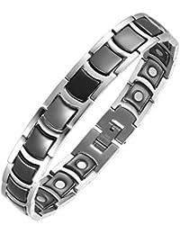 Schwarze Keramik Magnet therapie Armband Titan Golf Armbänder für Männer Arthritis und Karpaltunnelsyndrom durch Moocare