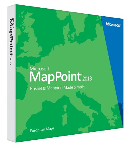 Vollversion MapPoint 2013 European Maps/ Windows / englisch / DVD