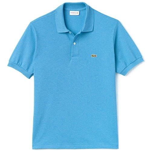 Lacoste Men's Blue Marl Short Sleeve Polo Shirt Blue