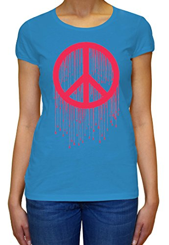 Peace Painted Logo Pink Graphic Design Women's T-shirt XX-Large (T-shirt Painted Womens Logo)