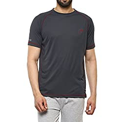 Proline Mens Solid Regular Fit Active Base Layer Shirt (PA019_De_Medium)