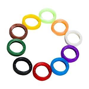 Supvox Farbige Silikon-Schlüsselkappen-Hülsen-Identifizierungs-Kodierungs-Ring-elastische Schlüsselumbauten 24pcs