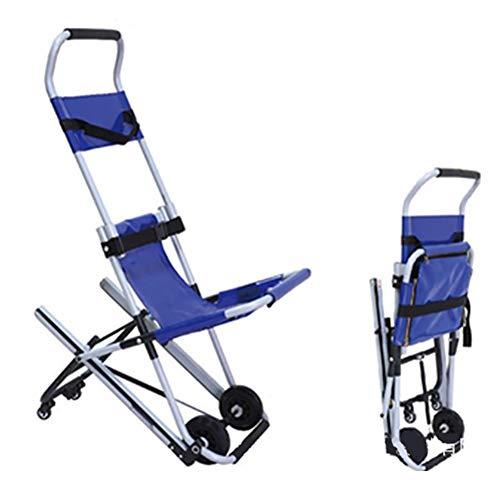 Bahren tragbarer transporteinheit-Luxus-treppen-Stuhl-medizinischer notfallpatiententransport 2 Rad-evakuierungs-Stuhl,Blue