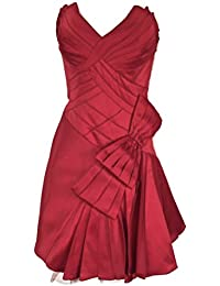40eb54e1f6f3 Karen Millen Red Bow Corset Prom Dress Satin Women's Size 12
