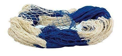 Fischernetz, dekoratives Fischnetz Blau Natur, Baumwoll Netz 200 x 400 cm