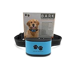 PAS DE Choc Bark Collier pour dressage de chien. utilise humaine, la douleur gratuit sonore et vibrations. 7niveaux de sensibilité, durable, collier réglable, Petit et léger, attaches gratuit, pour chien de 10–49,9kilogram. Bonus Sifflet pour chien