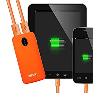 Neptor NP056K-OR 5600mAh Dual USB 2.1A Portable External Battery Charger for Smartphones & Tablets - Orange