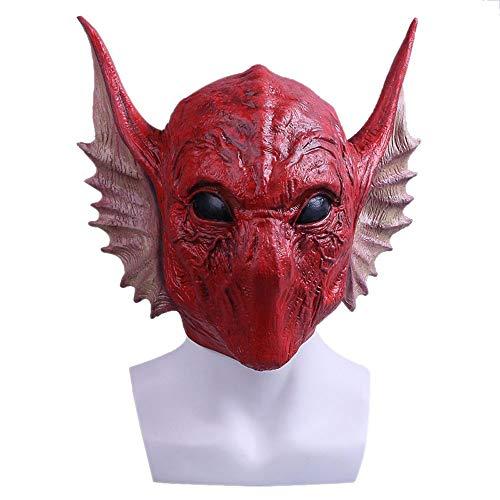 YaPin Wächter der Galaxie 2 COS Serpentine Alien Mask Hood Halloween Requisiten Videospiel Peripherie Rot