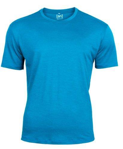 super-natural-m-relax-t-shirt-de-compression-a-manches-courtes-pour-homme-bleu-aqua-large