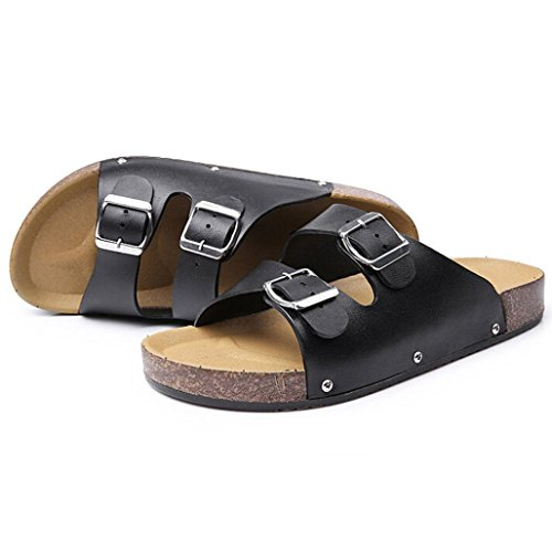 OverDose-Mens-Slippers-Twin-Strap-Adjustable-Buckle-Open-Backed-Sandals