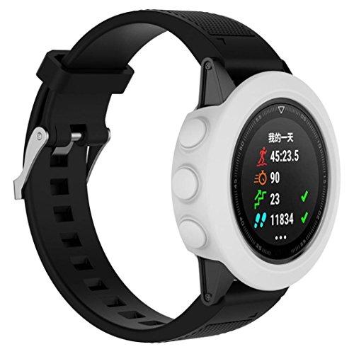 erthome Schutzhülle für Garmin Fenix 5, Ersatz-Silikon-dünne Uhr-Kasten-Abdeckung für Garmin Fenix 5 GPS-Uhr, Ersatzkoffer (Weiß)