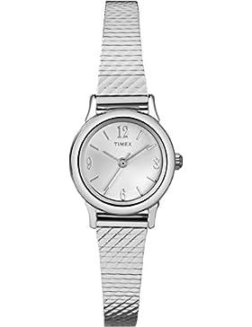 Timex Damen-Armbanduhr Analog Quarz Edelstahl T2P299