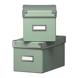 """IKEA Aufbewahrungsboxen """"Kassett"""" 2-er Set Regalkisten mit"""
