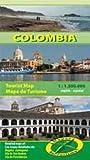 Tourismus- und Straßenkarte Kolumbien 1:1500000: Detailkarten Cartagena 1:20000, Bogota 1:50000, Insel San Andres 1:100000, Insel Providencia 1:100000 beidseitig bedruckt, indexiert, 90x68 cm -
