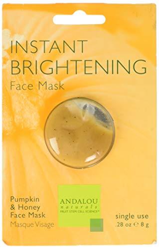 Éclaircissant instantané, Citrouille Honey Face Mask, 0,28 oz (8 g) - Andalou Naturals