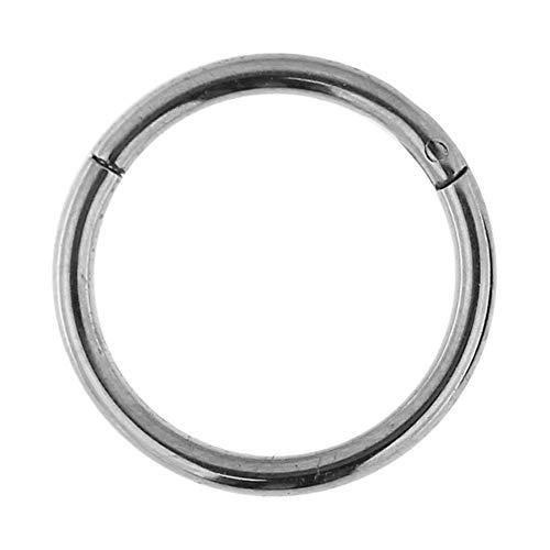 16 Gauge - 8MM Durchmesser 23 Grad Titanium Klappsegment Ring Septum Piercingschmuck