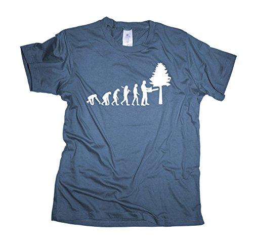 Forstarbeiter Regular Rundhals Herren Evolution T-Shirt BC150-denim-xl