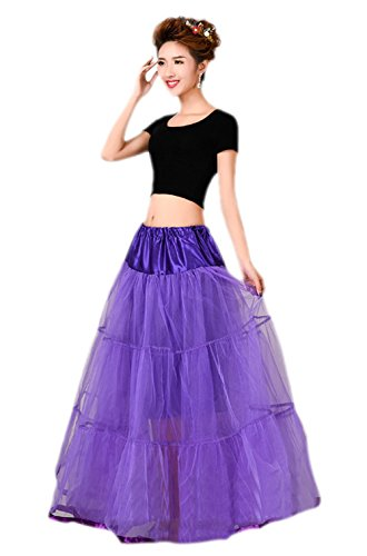 Honeystore 1950's Knöchellänge Vintage Rockabilly Petticoat Retro Ballett Tutu Reifrock Unterrock Underskirt Braut Party Hochzeit HALLOWEEN FASCHING KARNEVAL Lavendel One - Metal-band Usa Halloween
