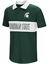 "Michigan State Spartans NCAA ""Setter"" Youth Jeunes Performance Polo shirt Chemise"