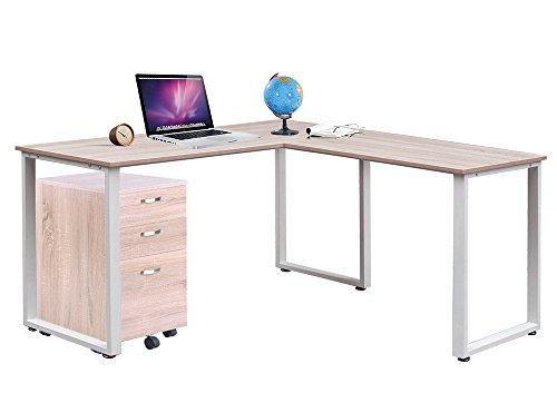 sturdy office desk. LIFE CARVER Sturdy Large L-Shaped Office Desk