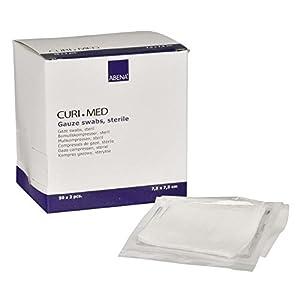 Curi-Med – sterile Mullkompressen – weiß – 7,5 x 7,5 cm – 100 Stück