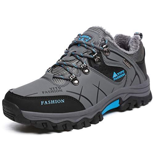 Scarpe da Trekking da Uomo più Velluto Caldo da Alpinismo da Montagna Outdoor Scarpe da Uomo in Cotone da Uomo di Grandi Dimensioni a Taglio Basso