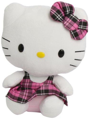 TY 90110 - Hello Kitty Large-Schottenrock pink (Hello Plüsch Kitty Spielzeug Puppe)
