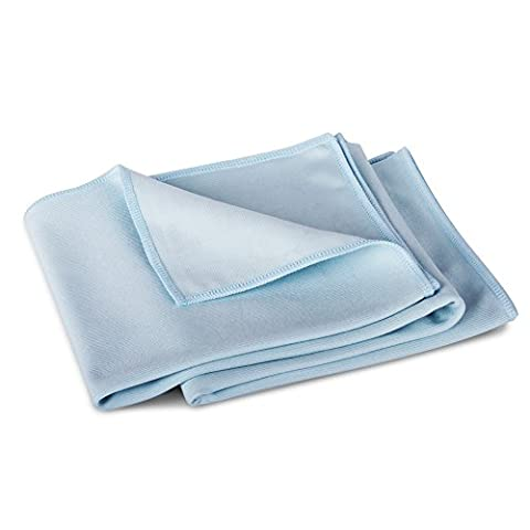 2 Pack of 70cm x 76cm Extra Large Lint Free Microfibre Window Glass Cleaning Polish Cloths - by TheChemicalHut®