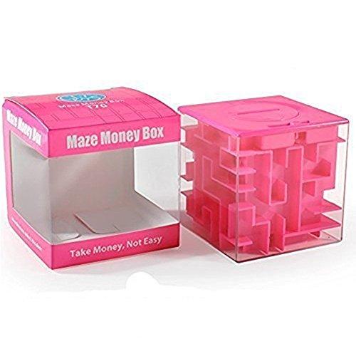 SainSmart Jr. Amaze CB-22 Cube Geld Labyrinth-Bank-Unique Perfekte Geschenke für Kinder-Zufriedenheit 100% garantiert! (Kostüm Und Gehirn Das Rosa)