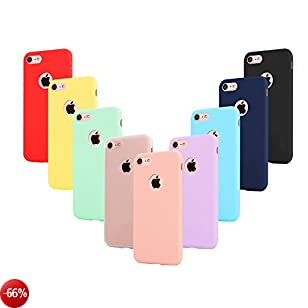9 × Custodia iphone 6 Cover Silicone , Leathlux Ultra Sottile Morbido TPU Custodie Protettivo Gel Cover per iphone 6S / 6 4.7