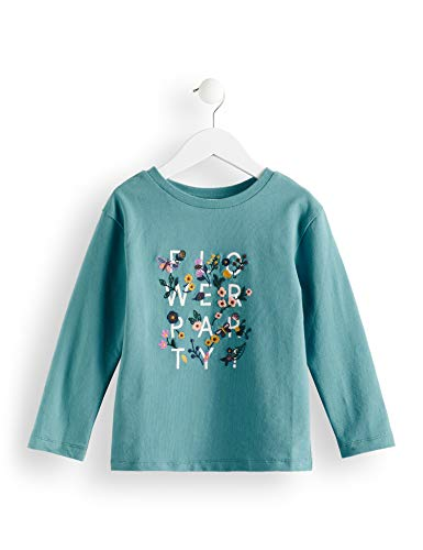 RED WAGON Crew Neck Printed Sweat T-Shirt Fille, Bleu (Teal), 128 (Taille Fabricant: 8)