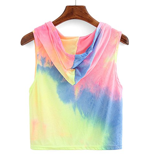 Heiß!!! LSAltd Frauen Mode Print Hoodie Sweatshirt Patchwork Langarmshirts Farbverlauf Kapuze Pullover Tops Langarm Bluse Regenbogen Tops Jumper -