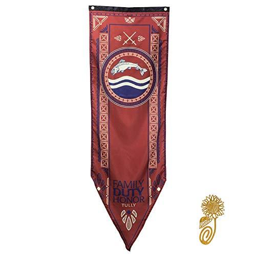 TianLinPOT for Game Party Throne Gifts Stil Banner Haus Sigil Wand Flaggen (46 * 150 cm), Hängefahnen für Bar Club Wohnzimmer Schlafzimmer Dekoration -