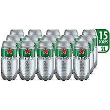 Heineken Cerveza - Caja de 15 TORPS x 2L - Total: 30 L