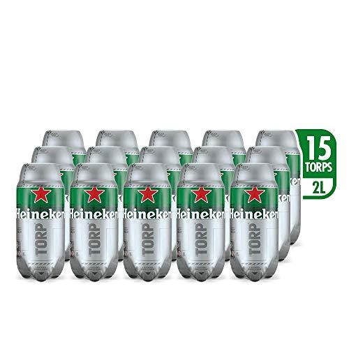 Heineken Beer - Box of 15 TORPS x 2L - Total: 30 L