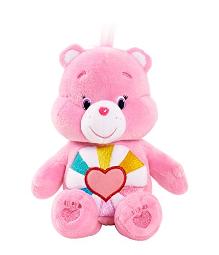 "Image of Vivid Imaginations ""Care Bears Hopeful Heart Bear Bean Bag"" Plush Toy (Multi-Colour)"