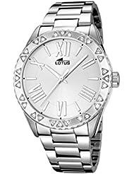 Lotus Reloj de cuarzo para mujer con plata esfera analógica pantalla y plata pulsera de acero inoxidable 15991/1