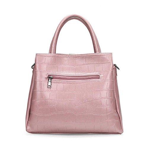 Europa Und Die Vereinigten Staaten Stil Handtasche Messenger Bag Stein Muster Wilden Kind Zwei Sätze Von Schultertasche Black