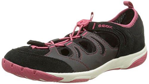 Geox D Xense A, Baskets Femme Noir (C9373)