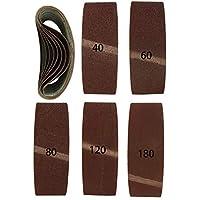 10pieza Premium 75x 533–Bandas de lija (Mix por 2x grano 40,60,80,120,180variadas I schleifband I lijadora de banda 75x 533mm