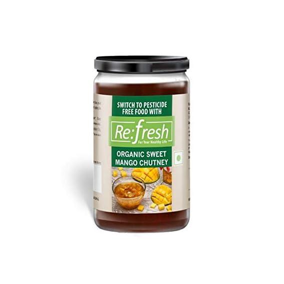 Refresh Organic Sweet Mango Chutney 220 Gm
