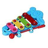 Mamum Xylophon-Spielzeug, Musikinstrument, Baby, Kind, 4 Noten, Förderung der Intelligenz Einheitsgröße blau