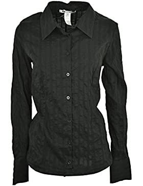 Les Copains Cuerpo de Camisa Elegante Mujer DE 44 M de Negro - Negro, M
