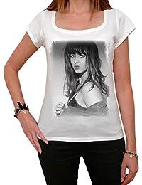 Sophie Marceau, tee shirt femme, imprimé célébrité,Blanc, t shirt femme,cadeau