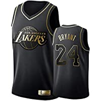 Camiseta de Baloncesto para Hombre -#24 Kobe Bryant - Los Angeles Lakers Bordado Swingman Transpirable y Resistente al Desgaste Camiseta para Fan