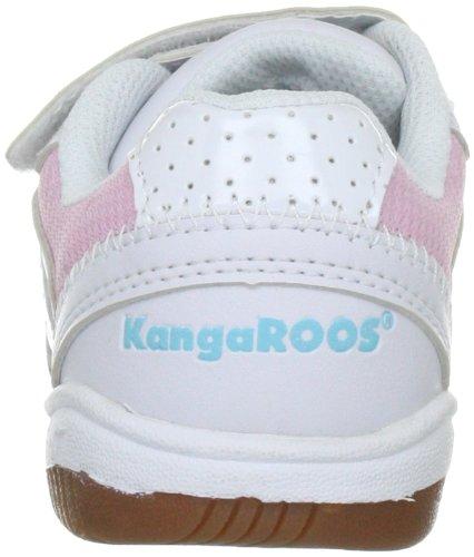 Kangaroos Backyard, Chaussures de sports en salle garçon Blanc (White/Lt.Pink/Past.Blue)