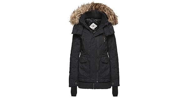 Khujo Furs, Giacca Donna, Nero (Black 200), Small: Amazon.it