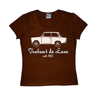 Logoshirt Damen T-Shirt Trabant de Luxe Dunkelbraun S